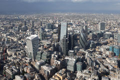 Vue d'horizon de ville de Londres d'en haut Photo libre de droits