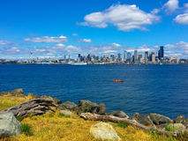 Vue d'horizon de ville de Seattle occidental Photo libre de droits