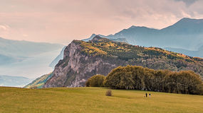 Vue d'horizon en montagnes italiennes Photo stock