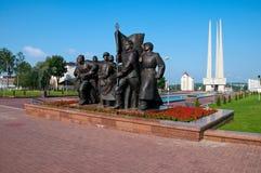 Vue d'horizontal d'été du Belarus Vitebsk Image libre de droits