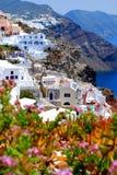 Vue d'horizontal dans Santorini Image libre de droits