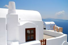 Vue d'horizontal dans Santorini Photos stock