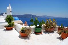 Vue d'horizontal dans Santorini Photo libre de droits
