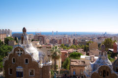 Vue d'horizontal de Barcelone Images libres de droits