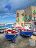 Vue d'horizontal de Giovinazzo. Apulia. Image stock