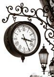 Vue d'horloge de rue de style de vintage photographie stock libre de droits