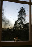 Vue d'hublot de l'hiver Image libre de droits