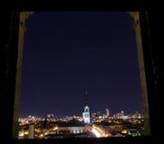 Vue d'hublot de la ville Photos libres de droits