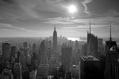 Vue d'hublot de New York City Photographie stock libre de droits