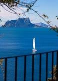Vue d'Ifach Penon de calpe dans Alicante Image stock
