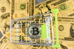 Vue d'image virtuelle de concept de cryptocurrency photos stock
