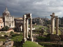 Vue d'Impresive de Romans Forum photos libres de droits