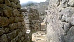 Vue d'Inca City antique de Machu Picchu Le site du 15ème siècle d'Inca 'A perdu la ville des Inca' banque de vidéos