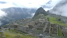 Vue d'Inca City antique de Machu Picchu Le site du 15ème siècle d'Inca 'A perdu la ville des Inca' clips vidéos