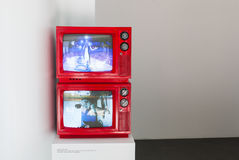 Vue d'installation de travail à côté de Cody Choi, pavillon de la Corée à Venise Photos stock