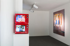 Vue d'installation de travail à côté de Cody Choi, pavillon de la Corée à Venise Photos libres de droits