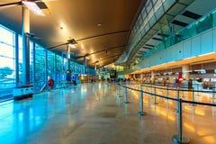 Vue d'intérieur d'aéroport de Valence Photos libres de droits