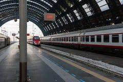 Vue d'intérieur de Milan Central Station Image libre de droits