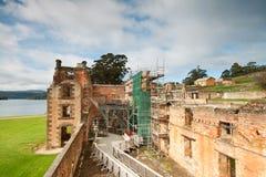 Vue d'intérieur de prison dans le Port Arthur Photographie stock libre de droits
