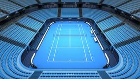 Vue d'intérieur de stade vide de court de tennis Photos libres de droits