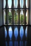 Vue d'intérieur symétrique de palais de réunification Photographie stock