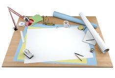 Vue d'isolement d'appareil de bureau de créateur illustration stock