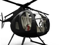 Vue d'isolement d'hélicoptère Photos libres de droits