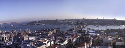 Vue d'Istanbul (péninsule antique) de Galata Towe Photo stock