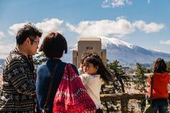 Vue d'Iwaki de bâti de parc de château de Hirosaki photo libre de droits