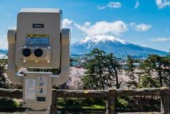 Vue d'Iwaki de bâti de parc de château de Hirosaki Photos libres de droits