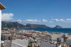 Vue d'océan à Altea, Costa Blanca - Espagne photo libre de droits