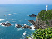 Vue d'océan au bord de la falaise Photos stock