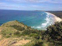 Vue d'océan de Byron Bay Image stock
