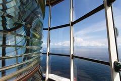 Vue d'océan de Canada du NL de phare d'intrigue amoureuse de Lanse Image libre de droits