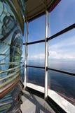 Vue d'océan de Canada du NL de phare d'intrigue amoureuse de Lanse Images libres de droits