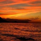 Vue d'océan de coucher du soleil photos stock