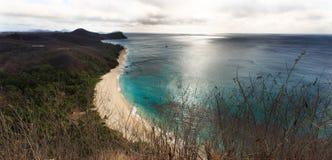 Vue d'océan de la colline Image stock
