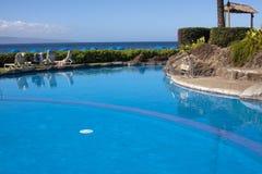 Vue d'océan de piscine Photos libres de droits