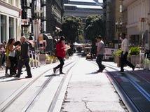 Vue d'océan de rue de San Francisco Bay Area photographie stock libre de droits