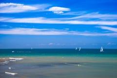 Vue d'océan de Yport Photo libre de droits