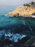 Vue d'océan d'une falaise photographie stock libre de droits