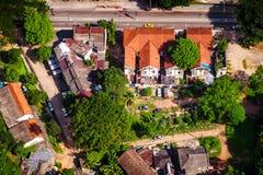 Vue d'oeil d'oiseau d'un bâtiment abandonné en Kuala Lumpur Image libre de droits