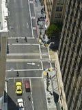 Vue d'oeil d'oiseau d'une scène de rue à San Francisco images stock