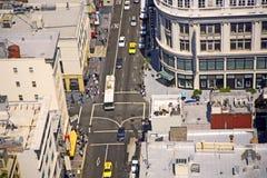 Vue d'oeil d'oiseau d'une scène de rue à San Francisco photos stock