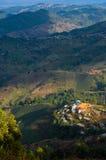 Vue d'oeil d'oiseau d'usine de thé en Thaïlande Images stock
