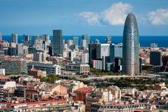 Vue d'oeil d'oiseau de Barcelone Image stock
