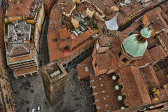 Vue d'oeil d'oiseau de Bologna Photos stock
