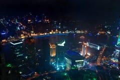 Vue d'oeil d'oiseau de Changhaï photographie stock libre de droits
