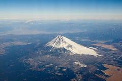 Vue d'oeil d'oiseau de Fuji de montagne, Japon Photo libre de droits