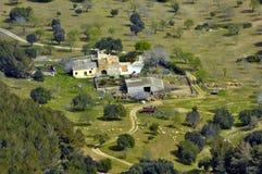 Vue d'oeil d'oiseau de Majorca rural Image libre de droits